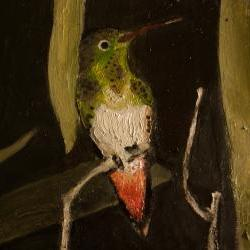 ORIGINAL Fine Art Painting - Humming Bird in Trees - Daily Painting Series